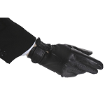 Ovation® Stretch Side Panel Leather Gloves with hook and loop closures - Ladies'