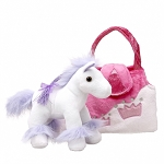 Princess Karimee Purple Horse Purse