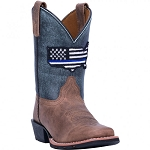 Dan Post Thin Blue Line Western Boots-Children's