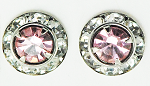 The Finishing Touch of Kentucky - Bling Earrings-Light Pink