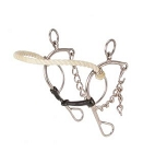 Rope nose hackamore w/snaffle gag mouth